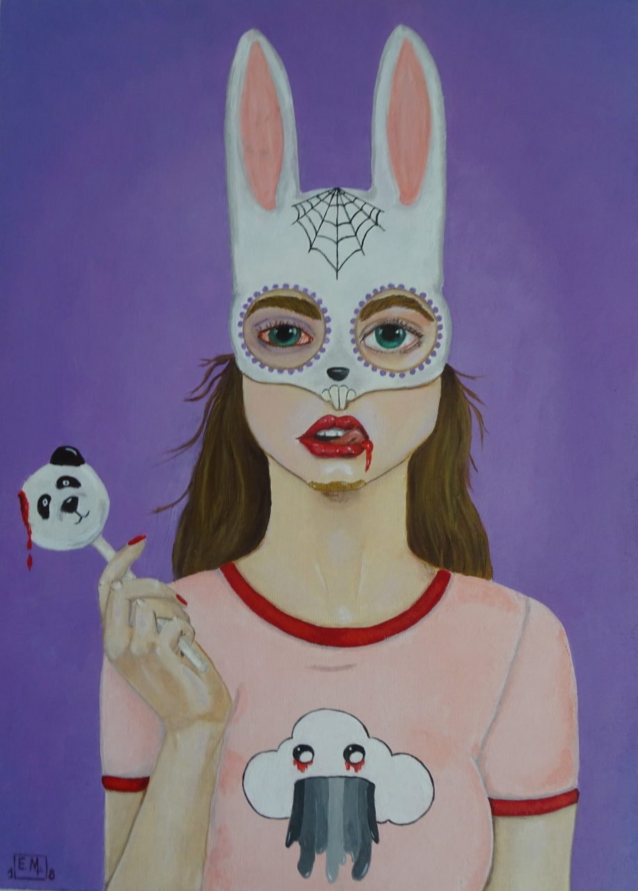 Trick or Treat Acrylic on Canvas panel 14x16 inch